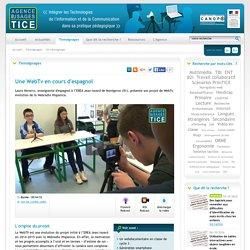 L'Agence nationale des Usages des TICE - Une WebTv en cours d'espagnol