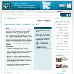 L'Agence nationale des Usages des TICE - Les cartes heuristiques : pourquoi et pour qui ?