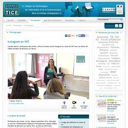 L'Agence nationale des Usages des TICE - Instagram en SVT
