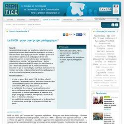 L'Agence nationale des Usages des TICE - Le BYOD : pour quel projet pédagogique ?