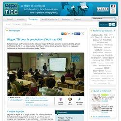 L'Agence nationale des Usages des TICE - Blog et TBI pour la production d'écrits au CM2