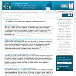 L'Agence nationale des Usages des TICE - Etudes, audits, rapports