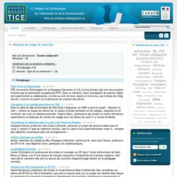 L'Agence nationale des Usages des TICE - Résultat