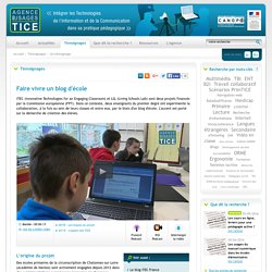 L'Agence nationale des Usages des TICE - Faire vivre un blog d'école