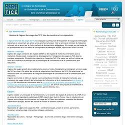 L'Agence nationale des Usages des TICE - Qui sommes-nous ?