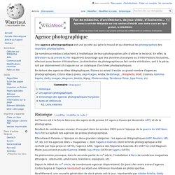 Agences photographiques françaises, chronologie