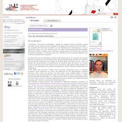 3 – Introduction aux humanités numériques – Aurélien Berra