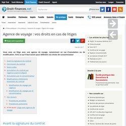 Agence de voyage : vos droits en cas de litiges