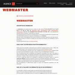 Webmaster : fiche métier - salaire - offres d'emploi de webmaster