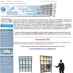 agencement de vitrines pour agences immobilières, banques, agences de voyages et Musées