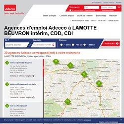 Agences d'emploi Adecco à LAMOTTE BEUVRON - Trouver une agence d'emploi Adecco, intérim et bureaux de recrutement