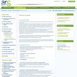 ARS - Agences Régionales de Santé: Prévenir le suicide