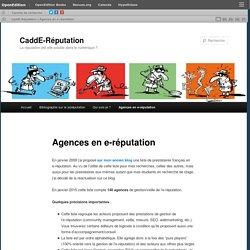 Agences en e-réputation