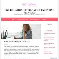 Role of Egg Donor Agencies – Egg Donation, Surrogacy & Parenting Services