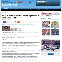 FAA To Ease Rules For Police Agencies To Fly Unmanned Drones