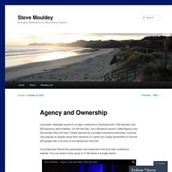 Agency and Ownership