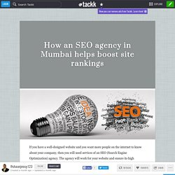 How an SEO agency in Mumbai helps boost site rankings