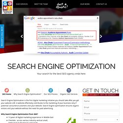 Dubai SEO Agency you can Trust