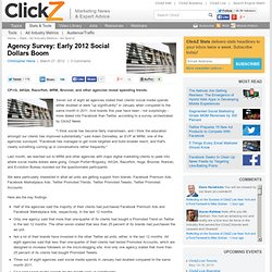 Agency Survey: Early 2012 Social Dollars Boom