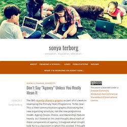 """Don't Say """"Agency"""" Unless You Really Mean It – sonya terborg"""