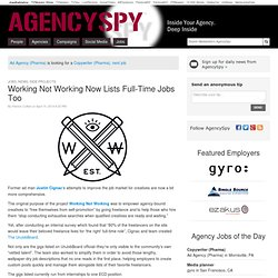 AgencySpy - Inside Your Agency. Deep Inside