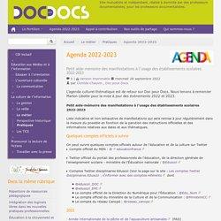 Agenda 2015-2016 - Doc pour docs