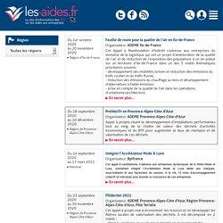 Agenda des appels à projet - Les-aides.fr