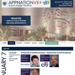 Agenda - APPNATION VII @ CES