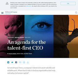 An agenda for the talent-first CEO