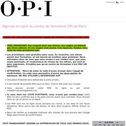 Agenda en ligne du centre de formation OPI de Paris