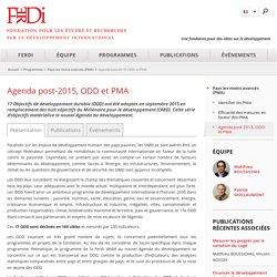 Agenda post-2015, ODD et PMA