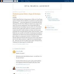 Eva Maria Agenet: Traduction poeme Stufen \ Etapes de Hermann Hesse