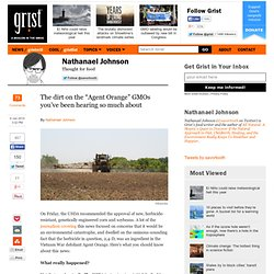 "The dirt on the ""Agent Orange"" GMOs you've been hearing so much about"