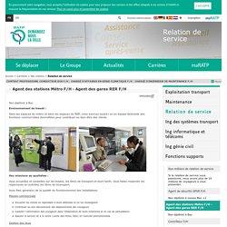Agent des stations Métro F/H - Agent des gares RER F/H