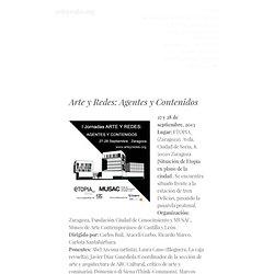 Arte y Redes: Agentes y Contenidos | Arte y Redes