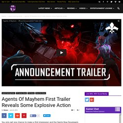 Agents of Mayhem First Trailer Shows off Some Explosive Action