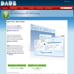 Ages! Genealogy Software - daubnet.com