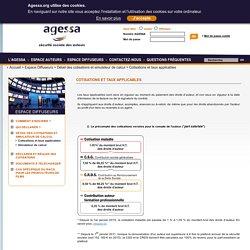 AGESSA - Cotisations et taux applicables