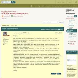 AGESSA et auto entrepreneur (French)