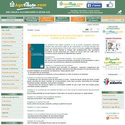 Domicile, Guide de l'accueil familial pour les personnes âgées : agrément, contrôle, tarifs, formations