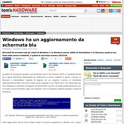 Windows ha un aggiornamento da schermata blu