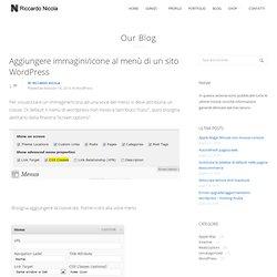 Aggiungere immagini/icone al menù di un sito WordPress