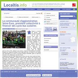 La communauté d'agglomération Seine-Eure, première collectivité à financer des cyclo-bus scolaires
