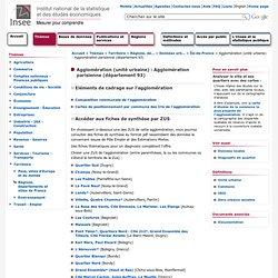 Thèmes - Territoire - DUIC - Agglomération (unité urbaine) : Agglomération parisienne (département 93)