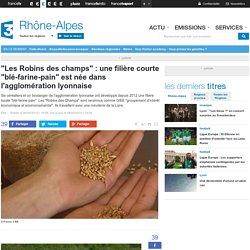 """FRANCE 3 RHONE ALPES 06/05/15 """"Les Robins des champs"""" : une filière courte """"blé-farine-pain"""" est née dans l'agglomération lyonnaise"""