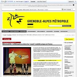 """Grenoble - Métromobilité : la Métropole se dote d'un """"coach"""" mobilité unique en France"""
