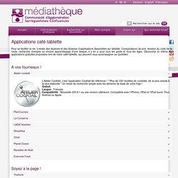 Applications café-tablette - Médiathèque de la Communauté d'Agglomération Sarreguemines Confluences