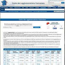 Carte des agglomerations francaises