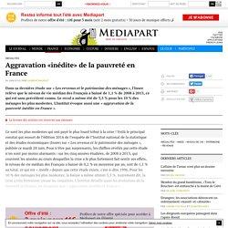 Aggravation «inédite» de la pauvreté en France