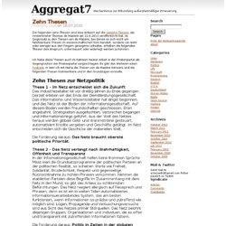 Aggregat7 : Zehn Thesen